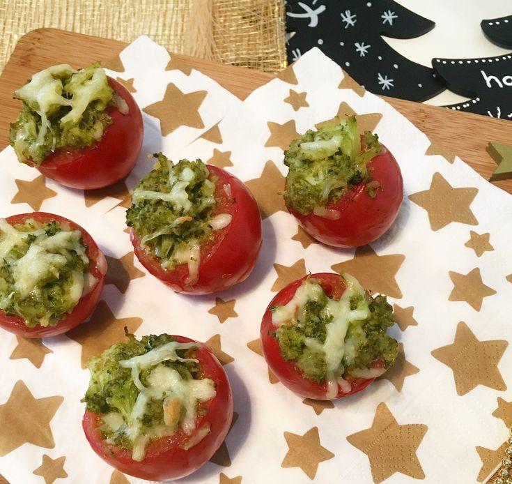 Gevulde tomaat met broccoli(pesto)
