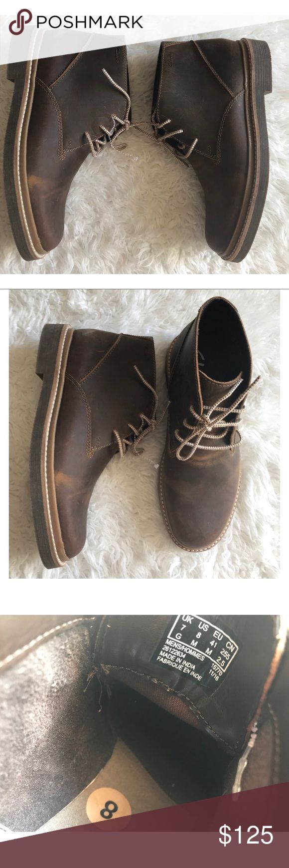 Clark's Bushacre ridge beeswax leather chukka boot Men's. New without box! Please make all reasonable offers through offer option only. Clarks Shoes Chukka Boots