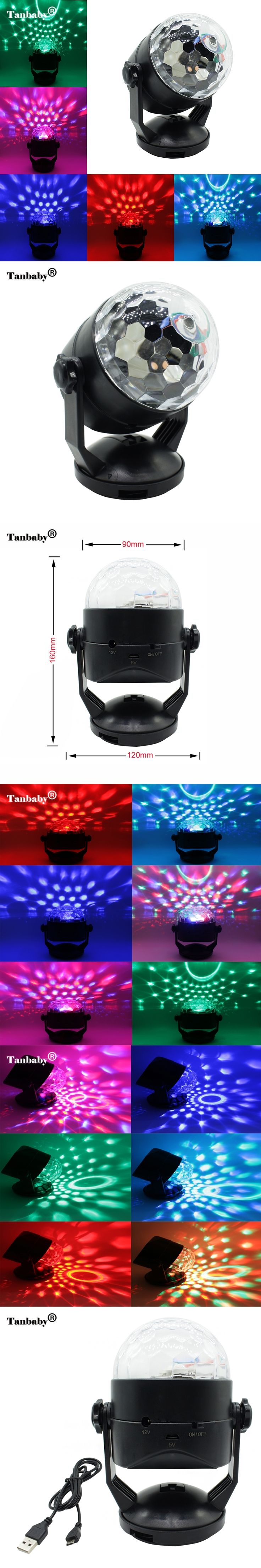 Tanbaby RGB LED Laser Pointer Disco Stage Light Voice Control USB or Battery Operated Laser Projector Party Bar Pattern Lighting