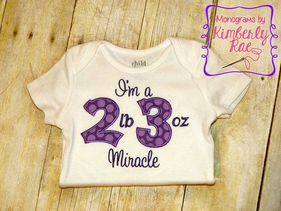 Custom I'm a Preemie Miracle Shirt or by MonogramsbyKimberlyR, $20.00  Perfect for a March of Dimes event!