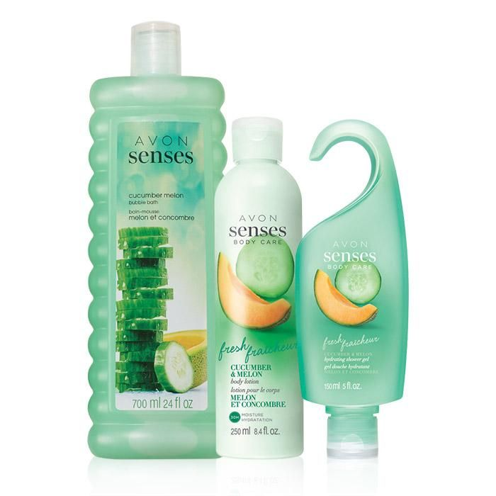 Valued At 20 The Set Includesavon Senses Cucumber Melon Bubble