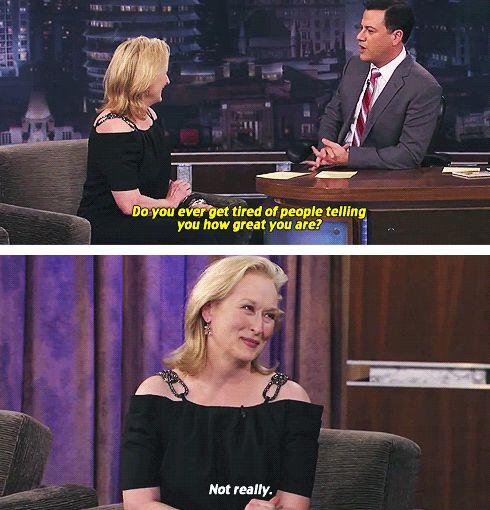 meryl streep. <3: Chuckl Factories, Movie Tv Funny Quotes, Funny Bones, Humor, Gut Laughing, Merylstreep, God Meryl, Lady Streep, Meryl Streep Funny