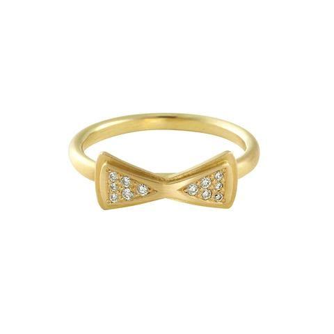 BOW TIE de luxe gold ring
