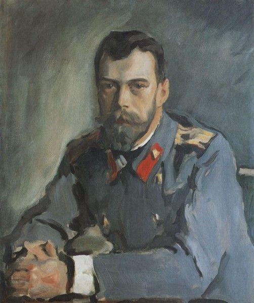 Валентин Серов. Портрет Николая II, в тужурке, 1900 г