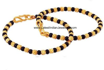 Cute Baby Bangles/Murugulu with Black Beads | Latest Indian Jewellery Designs