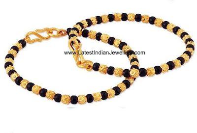 Cute Baby Bangles/Murugulu with Black Beads | Latest Indian Jewellery Designs