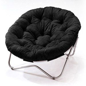 Oversized Oval Chair Black Papasan Chair Comfy Reading