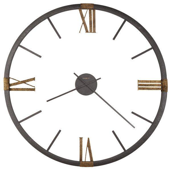 Oversized Prospect Park 60 Wall Clock In 2020 Howard Miller Wall Clock Oversized Wall Clock Metal Wall Clock