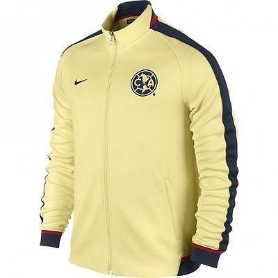 NIKE CLUB AMERICA AUTHENTIC N98 TRACK JACKET 2015/16 LEMON CHIFFON/ARMORY NAVY