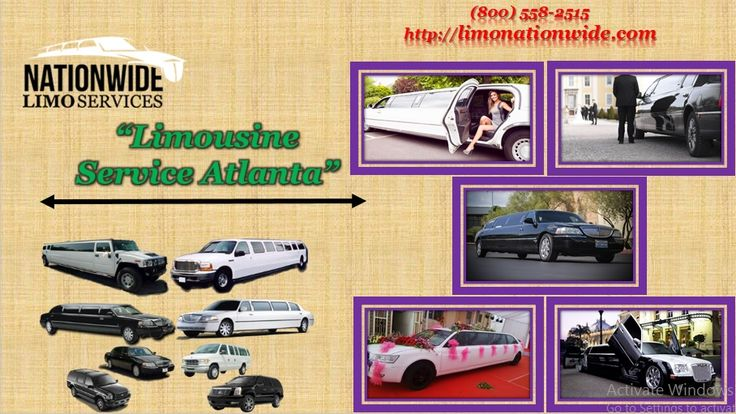 Limousine Service Atlanta is a good solution for arriving to airport at correct time without any traffic or parking tension. Limo nationwide provide reliable service and it takes care of all uncertainties like parking, toll, etc. You can book this for either a one way trip or a round trip. Get free instant quotes at 800) 558-2515.