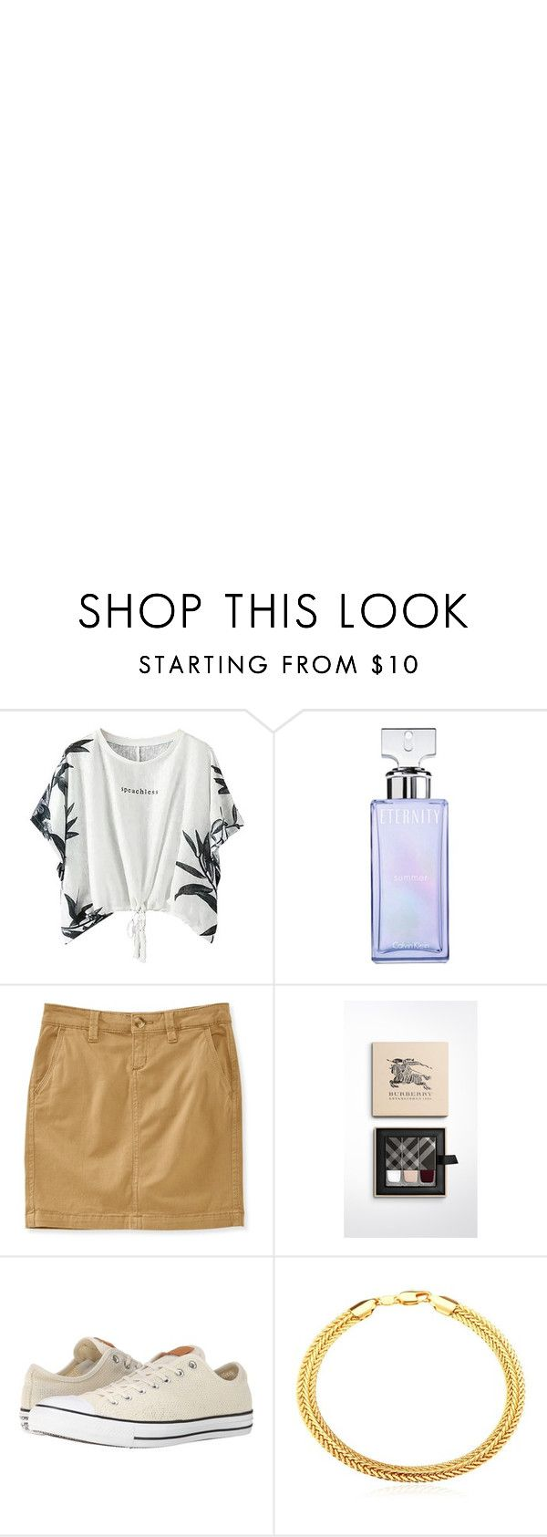 """summer"" by kiajeje ❤ liked on Polyvore featuring Eos, Calvin Klein, Aéropostale, Burberry, Converse, Maison Margiela and summeroutfit"