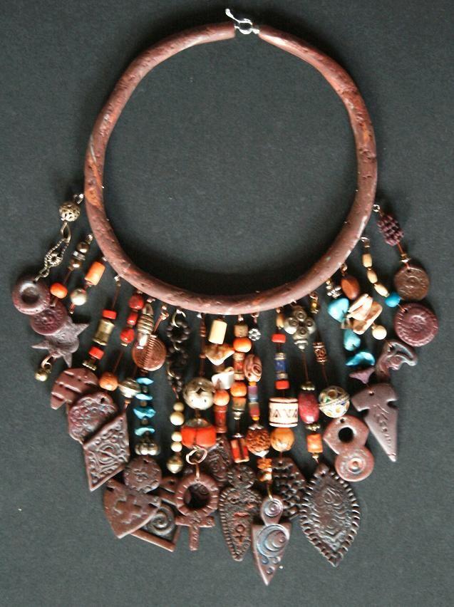 Tribal / ethnic inspired collar - Collier ethnique... Joss En Vrac.