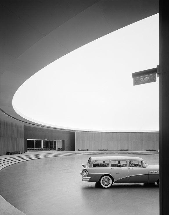 """rodlovespop: """"Ezra Stoller General Motors Technical Center, Eero Saarinen, Warren, MI 1950 © Ezra Stoller, Courtesy Yossi Milo Gallery, New York """""""