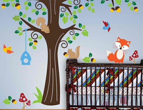 babyzimmer wandgestaltung 15 wanddeko ideen mit tieren einrichtungsideen pinterest. Black Bedroom Furniture Sets. Home Design Ideas