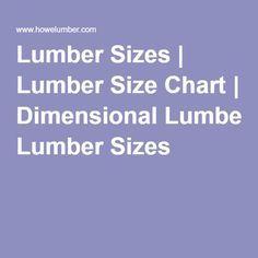 Lumber Sizes | Lumber Size Chart | Dimensional Lumber Sizes