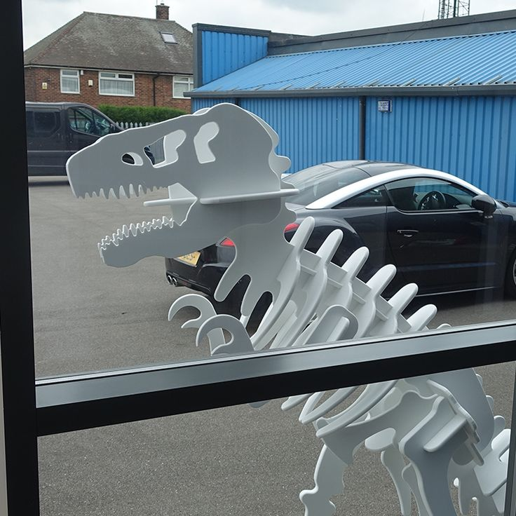 Jurassic Fever hits Ino-Plaz.  The Dinosaur Sculpture created in HI-MACS now stands proudly at our reception door.