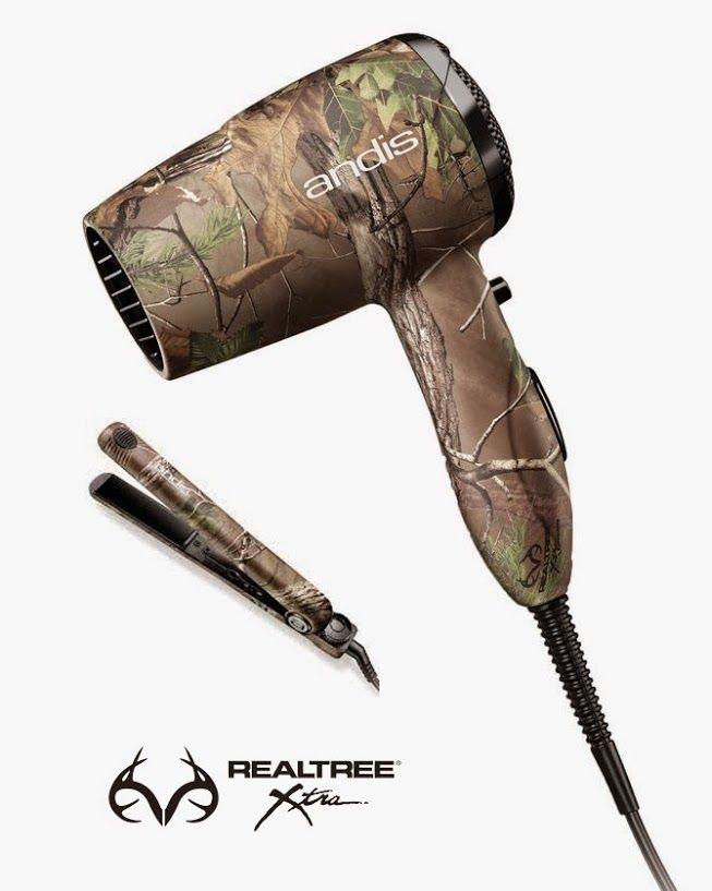 Realtree Camo Hair and Dryer set by Adis. NEED THESE!!!! #Realtreegear #Realtreecamo