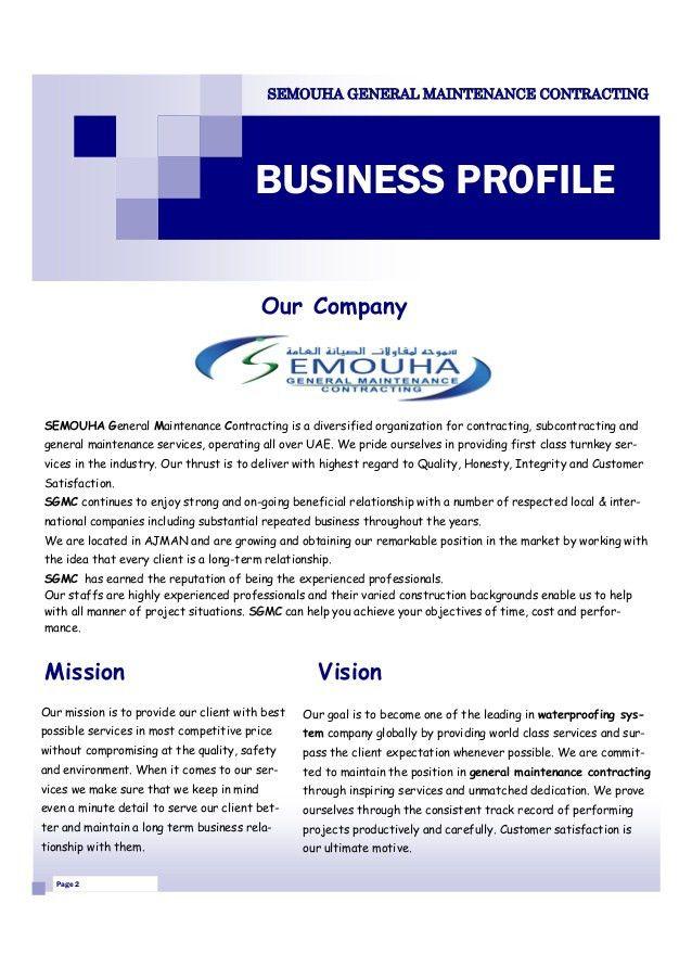 Semouha general maintenance contracting 2 638jpgcb1391098205 SlideShare #SampleResume #BusinessProfileTemplateWord