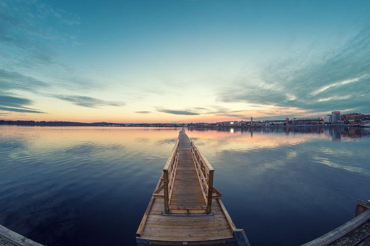 Dagarna är gråa nu, vintern kommer....#easter #luleå #fisheye