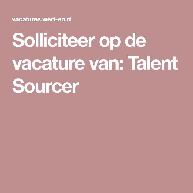 Solliciteer op de vacature van: Talent Sourcer