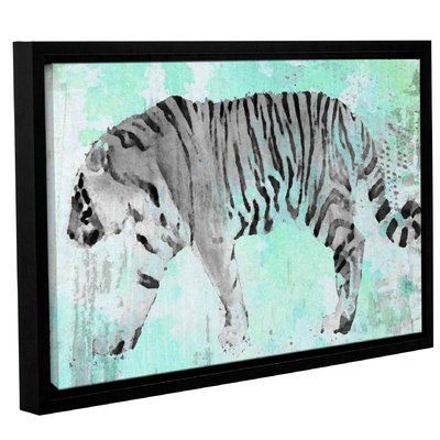 """World Menagerie 'Siberian Tiger II' Framed Graphic Art Print on Canvas Size: 16"""" H x 24"""" W x 2"""" D"""