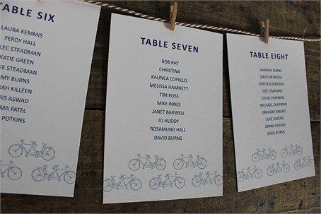 Vintage Tandem Tableplan - The  Pattern Boutique