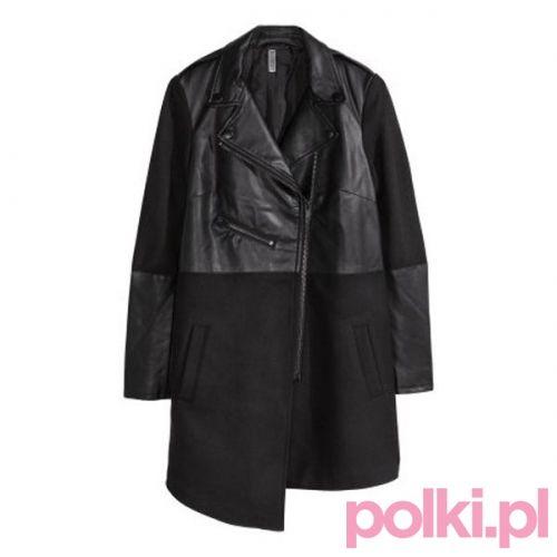 Czarny płaszcz H&M #polkipl #plaszcz