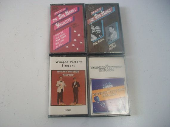 Best of Big Bands & Winged Victory Singers, Swing Jazz Audio Cassette Tapes, Vintage Cassette Tapes, Big Band Music