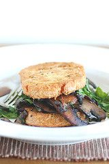 """sourdough french toast with field mushrooms serves 2"""" (SS)"""