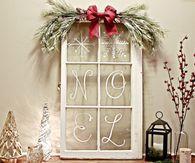 DIY Old Window Christmas Decoration
