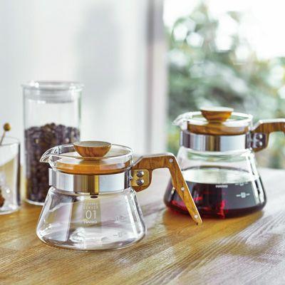 コーヒーサーバー600 オリーブウッド - 耐熱ガラスのHARIO
