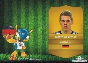 Matthias Ginter - Germany Player - FIFA 2014