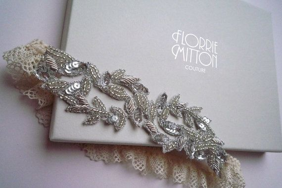 Aphrodite beaded garter by florriemitton on Etsy