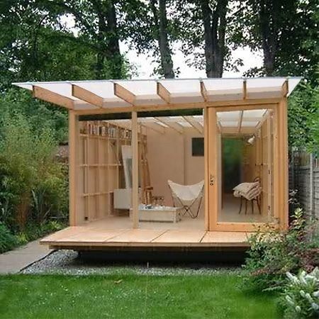 HOME DZINE Garden | A garden shed, hut or wendy house becomes a beautiful and practical garden room