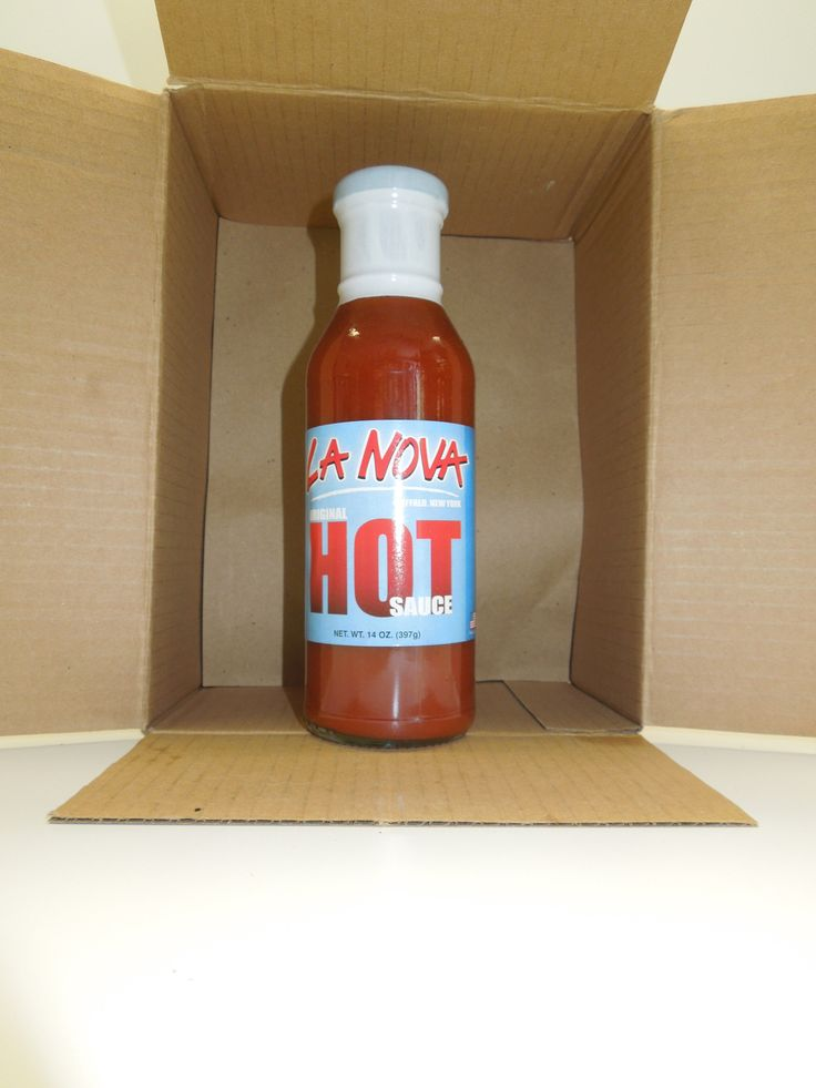 La Nova Wing Hot Sauce -Buffalo Style (12 oz) Glass