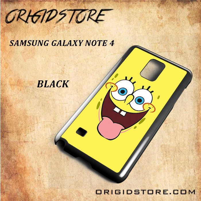 Smile Of Spongebob Squarepants For Samsung Galaxy Note 4 Snap On and 3D Case