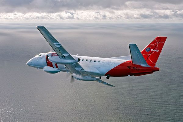 The Saab 340 MSA was unveiled at the Farnborough International Airshow in England in July 2012. Image courtesy of Saab AB. - Image - Naval Technology