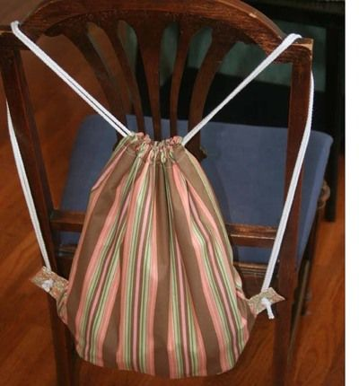 The Mama Drawstring Backpack – Free Tutorial