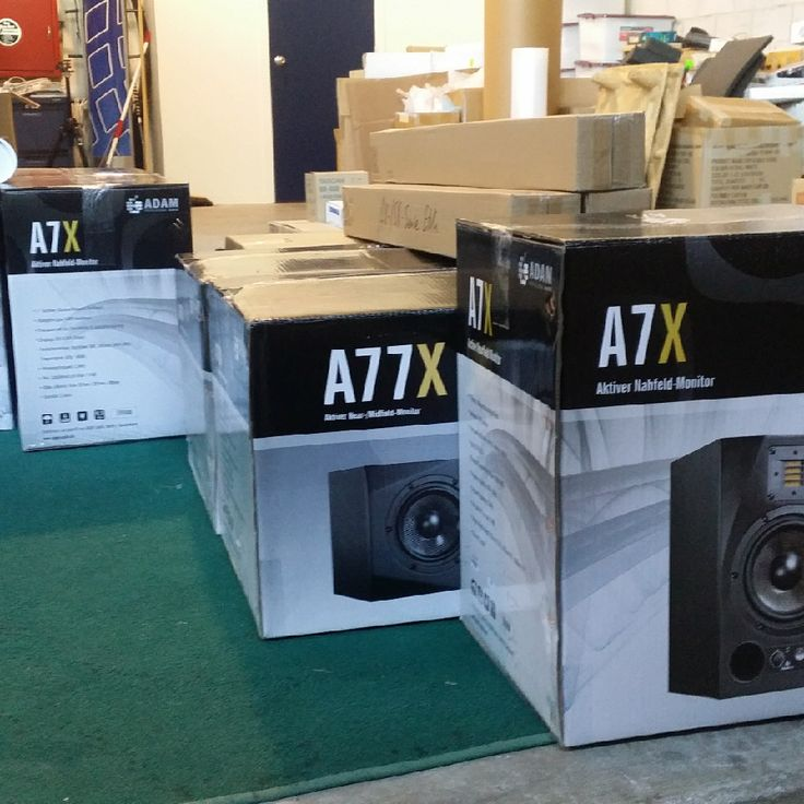 Adam Audio order arrives - The latest order from Adam  Audio has arrived including a pair of the award winning A77x monitors. Contact us for a listen