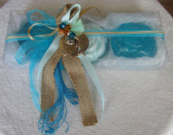 Ocean Christmas Gift Set, Turquoise Luxury Glycerin Soap New Year Charm For Good…