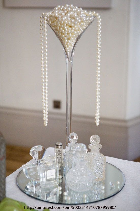 Pearl Dripping From Champagne Glass Wedding Style Downton Abbey Wedding  Great Gatsby Wedding Ideas Themes