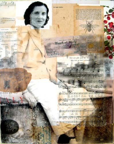 Ginnie - Michelle Caplan collage portraits