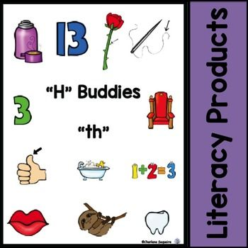 Digraphs+-+H+Buddies+-+thDigraphs+with+the+letter+h+can+be+referred+to+as+the+h+buddies.+This+helps+children+to+remember+to+combine+the+letters+when+sounding+them+out+rather+than+sounding+out+the+individual+letters.Included+in+this+package+are+printing+practice+pages+with+the+digraph+highlighted,+cut+and+paste+activities+for+identifying+where+the+digraph+is+in+the+word,+vocabulary+word+cards+with+both+the+picture+and+word+on+them,+and+memory+cards+with+pictures+only+and+words+only.