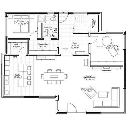 Architektenhaus Stadtvilla: Beipielplanung 3 - jetzthaus