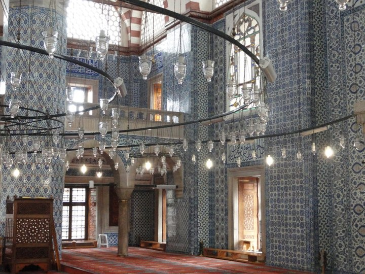 Tiled mosque in Istanbul