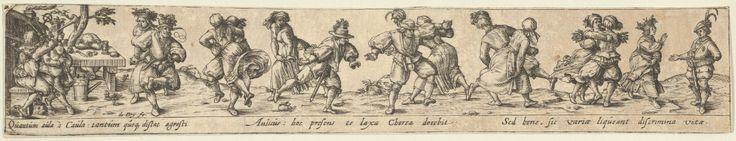 1580-1600 Johann Theodor de Bry (Netherlandish, Strasbourg 1561–1623 Bad Schwalbach) Peasant Couples Dancing (after Sebald Beham)