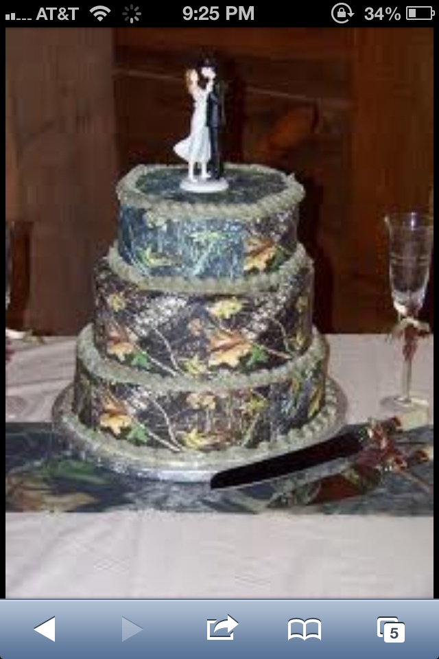 Images Of Camo Wedding Cakes