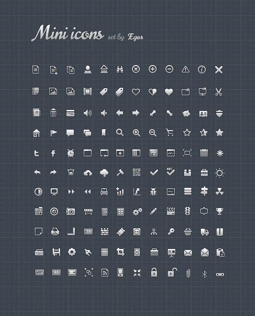 Mini Icons - Free Icon Set
