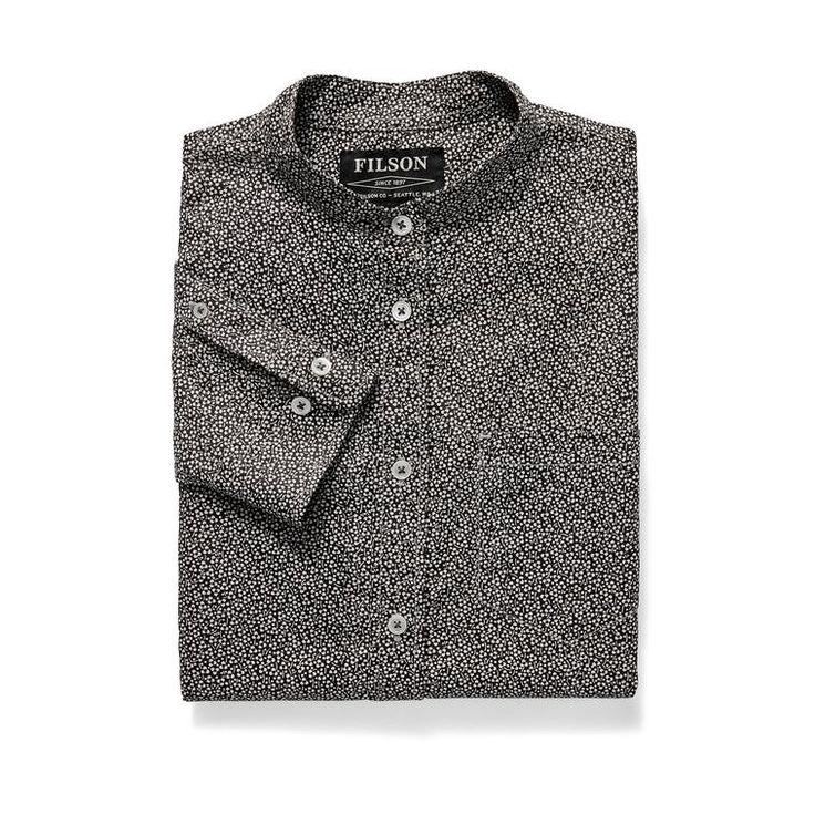 Women's Shelton Banded Collar Shirt - Northwest Black/Cream Floral