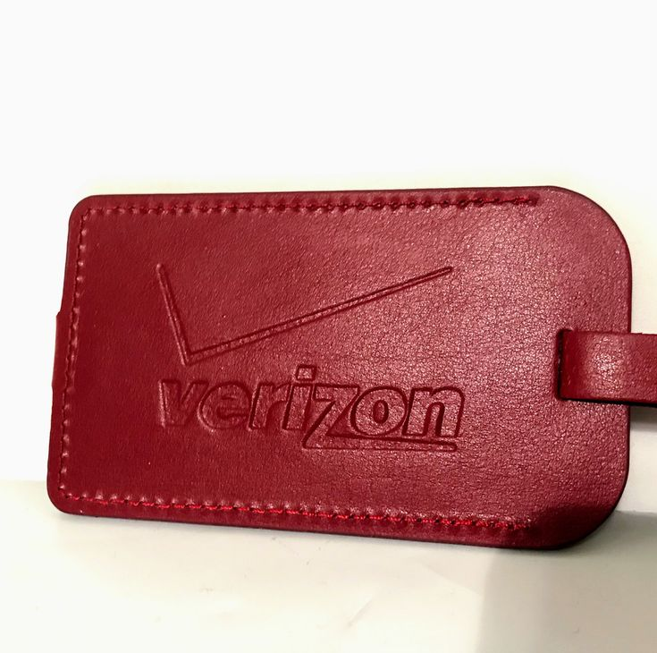 NEW VERIZON WIRELESS LUGGAGE TAG MAROON COLOR #Unbranded